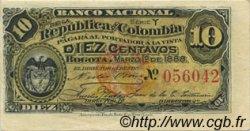 10 Centavos COLOMBIE  1888 P.211 SUP+