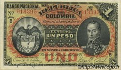 1 Peso COLOMBIE  1895 P.234 SUP