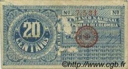 20 Centavos COLOMBIE  1900 P.264 TTB