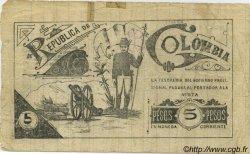 5 Pesos COLOMBIE  1900 P.295B TB