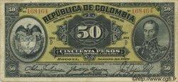 50 Pesos COLOMBIE  1910 P.317 TTB