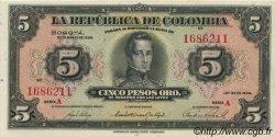 5 Pesos COLOMBIE  1938 P.341 pr.NEUF