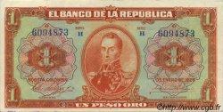1 Peso Oro COLOMBIE  1953 P.371 SUP