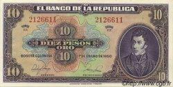 10 Pesos Oro COLOMBIE  1950 P.389e NEUF