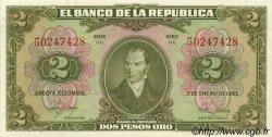 2 Pesos Oro COLOMBIE  1955 P.390d NEUF