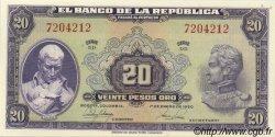 20 Pesos Oro COLOMBIE  1950 P.392d NEUF