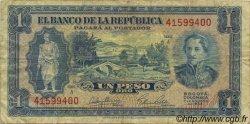 1 Peso Oro COLOMBIE  1953 P.398 TB