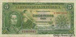 5 Pesos Oro COLOMBIE  1953 P.399a TTB