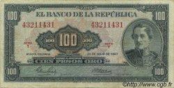 100 Pesos Oro COLOMBIE  1967 P.403c TB+