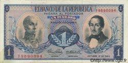 1 Peso Oro COLOMBIE  1964 P.404b SUP