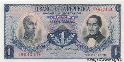 1 Peso Oro COLOMBIE  1968 P.404d NEUF