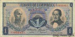 1 Peso Oro COLOMBIE  1970 P.404e pr.TTB