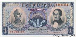 1 Peso Oro COLOMBIE  1973 P.404e NEUF