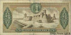 5 Pesos Oro COLOMBIE  1963 P.406a TB