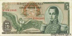 5 Pesos Oro COLOMBIE  1968 P.406b SUP