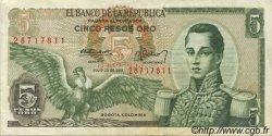 5 Pesos Oro COLOMBIE  1971 P.406c TTB+