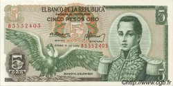 5 Pesos Oro COLOMBIE  1973 P.406e pr.NEUF