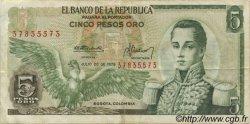 5 Pesos Oro COLOMBIE  1975 P.406e TTB