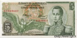 5 Pesos Oro COLOMBIE  1975 P.406e NEUF