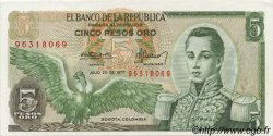 5 Pesos Oro COLOMBIE  1977 P.406e SUP