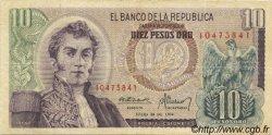 10 Pesos Oro COLOMBIE  1974 P.407f TB+