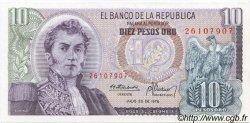 10 Pesos Oro COLOMBIE  1976 P.407f pr.NEUF