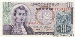 10 Pesos Oro COLOMBIE  1978 P.407f NEUF