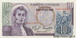 10 Pesos Oro COLOMBIE  1979 P.407g pr.NEUF