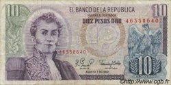10 Pesos Oro COLOMBIE  1980 P.407g TB