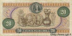 20 Pesos Oro COLOMBIE  1972 P.409a TB