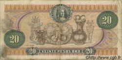 20 Pesos Oro COLOMBIE  1973 P.409a TB