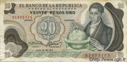 20 Pesos Oro COLOMBIE  1975 P.409c TTB