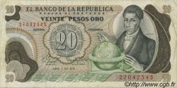 20 Pesos Oro COLOMBIE  1979 P.409d TB+