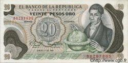 20 Pesos Oro COLOMBIE  1981 P.409d NEUF