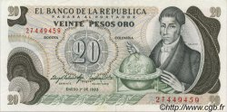 20 Pesos Oro COLOMBIE  1983 P.409d SUP+