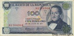 100 Pesos Oro COLOMBIE  1971 P.410c SUP