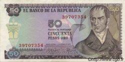 50 Pesos Oro COLOMBIE  1970 P.412b SUP+