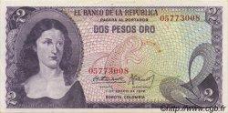 2 Pesos Oro COLOMBIE  1972 P.413a SUP