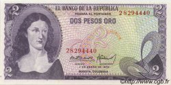 2 Pesos Oro COLOMBIE  1972 P.413a NEUF