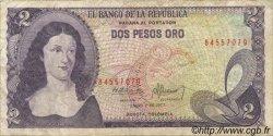 2 Pesos Oro COLOMBIE  1977 P.413b TB