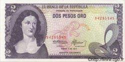 2 Pesos Oro COLOMBIE  1977 P.413b pr.NEUF