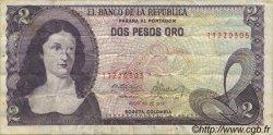 2 Pesos Oro COLOMBIE  1977 P.413b TB+