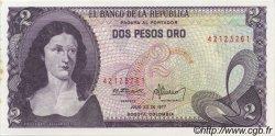 2 Pesos Oro COLOMBIE  1977 P.413b SPL
