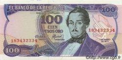 100 Pesos Oro COLOMBIE  1977 P.418a pr.NEUF