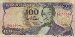 100 Pesos Oro COLOMBIE  1980 P.418c TB