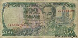 200 Pesos Oro COLOMBIE  1978 P.419 pr.TB