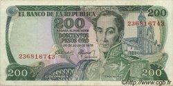 200 Pesos Oro COLOMBIE  1978 P.419 TTB