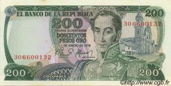 200 Pesos Oro COLOMBIE  1979 P.419 SPL+