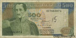 500 Pesos Oro COLOMBIE  1977 P.420a TB