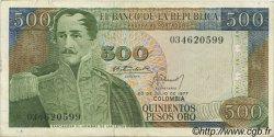 500 Pesos Oro COLOMBIE  1977 P.420a TTB à SUP